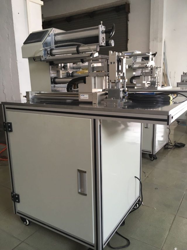full view of the semi-automatic cable labeling machine