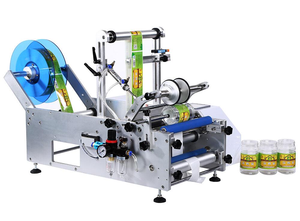 Semi-automatic round bottle labeling machine SBM-LM25