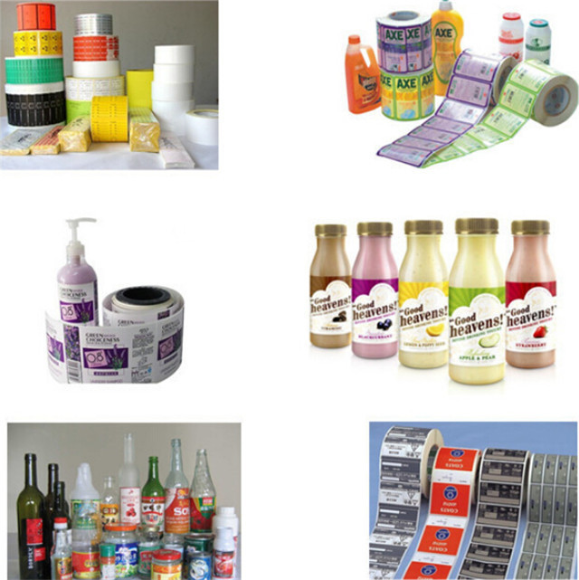samples by semi automatic round bottle labeler