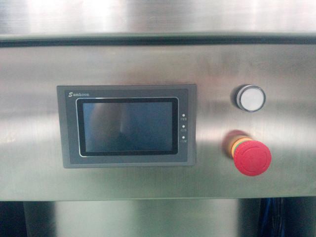 Control panel of 4 heads semi automatic filling machine