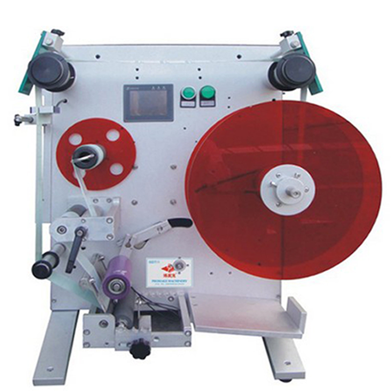the semi automatic round bottle labeling machine without date coding printer