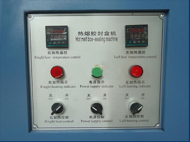 control panel of semi-automatic hot melt glue box sealing machine