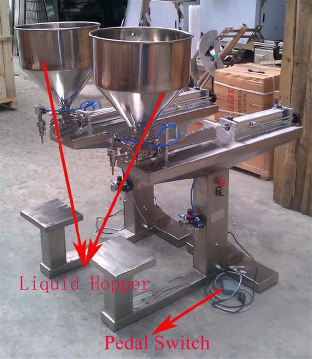 Parts of desktop semi automatic liquid filling machine