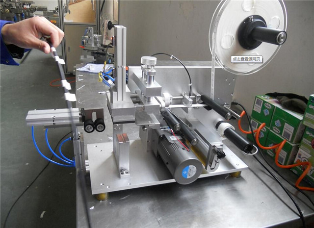 Close view of electrical wire cable labeller