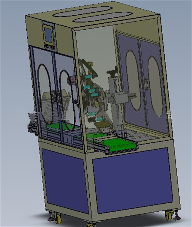 3D drawings of the flat surface top label applicators