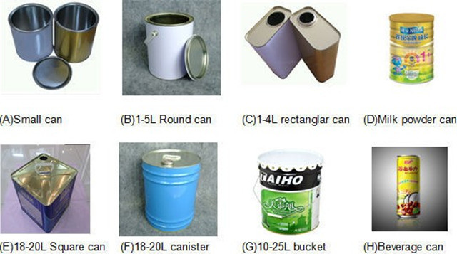 Cans samples for the metal cans sealer milk powder seaming machine