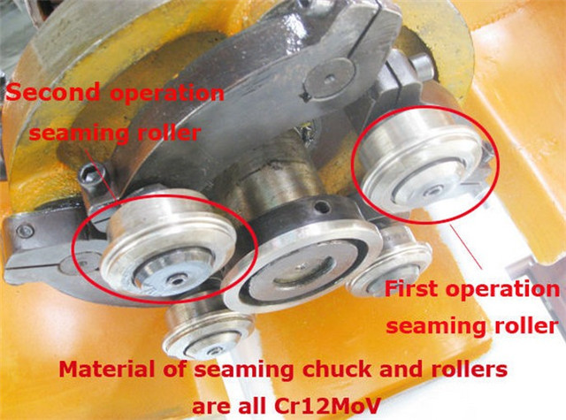 seaming roller of the milk powder sealing machine