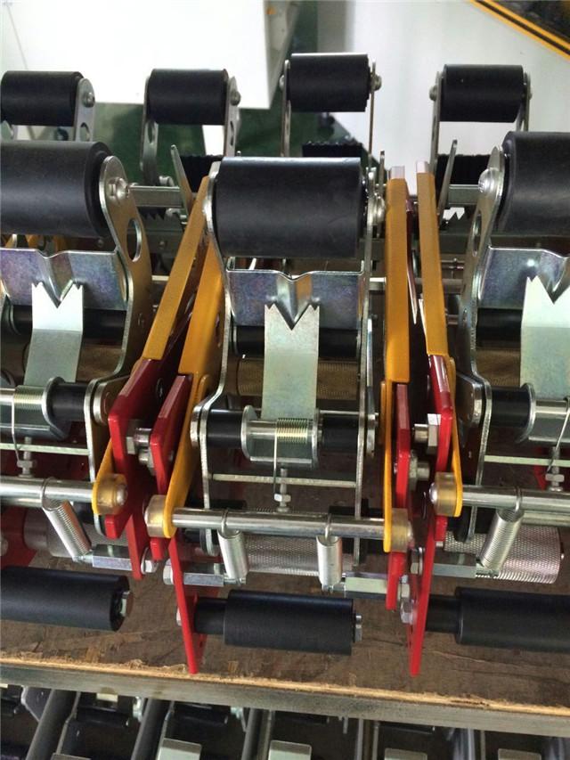Close view of Semi automatic Carton Flaps Folding Machine