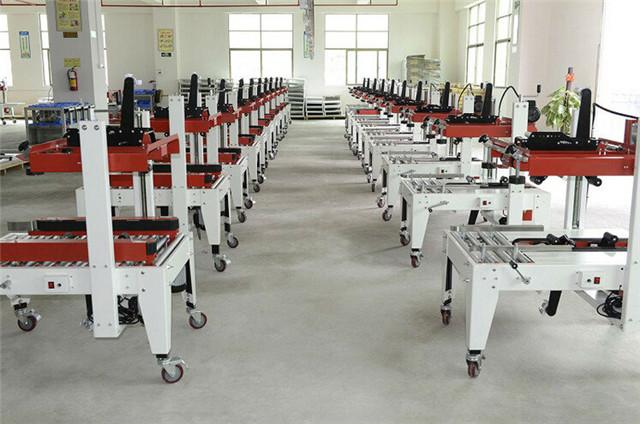 Workshop for the carton flap folding sealing machine
