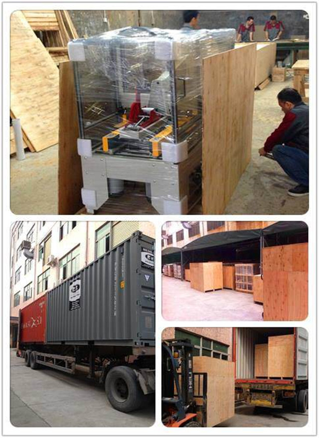 Wooden case packing for the semi automatic carton folding machine