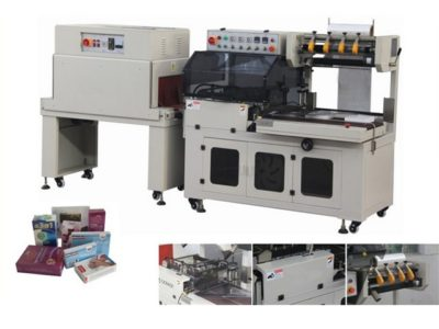 PE, PVC, POF film L-type heat sealing shrink packaging machine