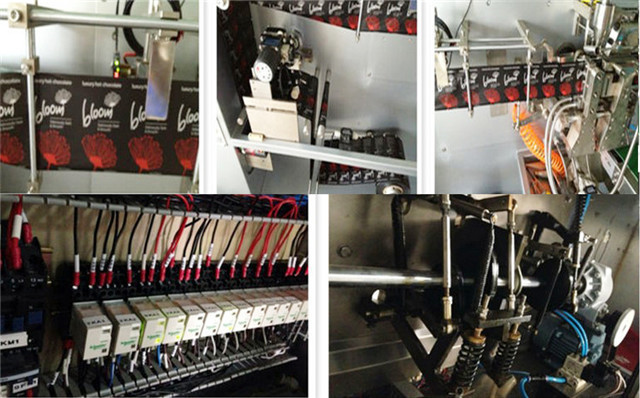 Close-up photos of the horizontal FFS packing machines