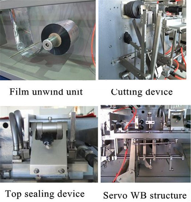 Parts introduction of the horizontal FFS packaging machine for coffee powder bag pouches