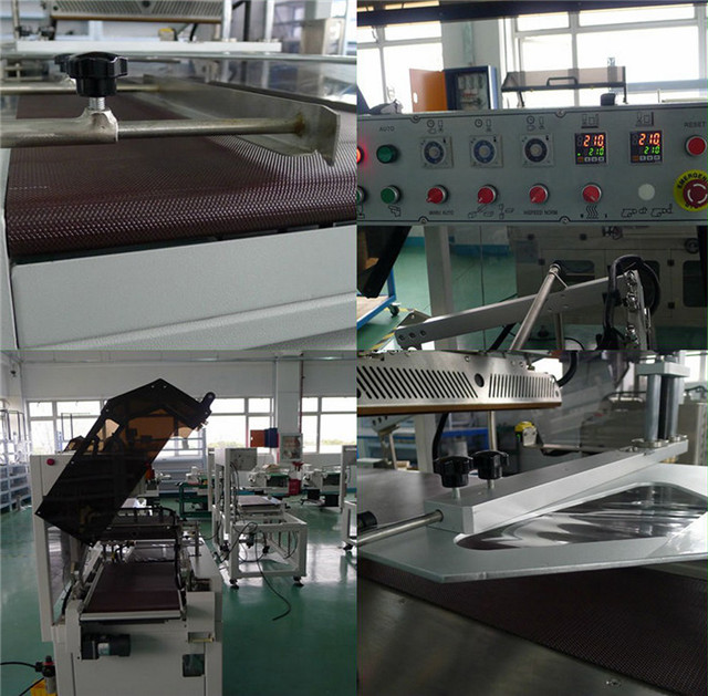 Close-up pictures of PE, PVC, POF film L-bar heat sealing shrink packaging machine
