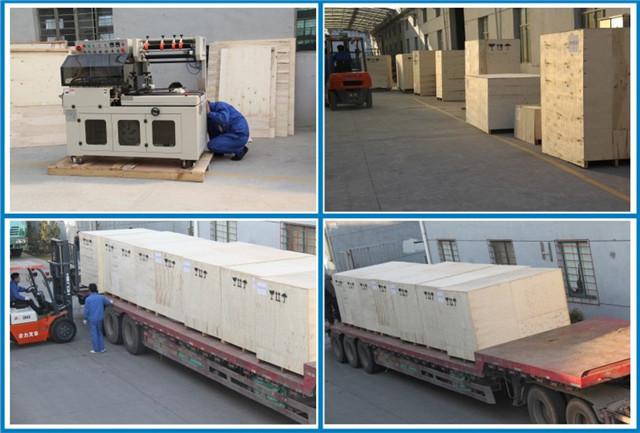Packaging ahd shipment of PE, PVC, POF film L-bar heat sealing shrink packaging machine
