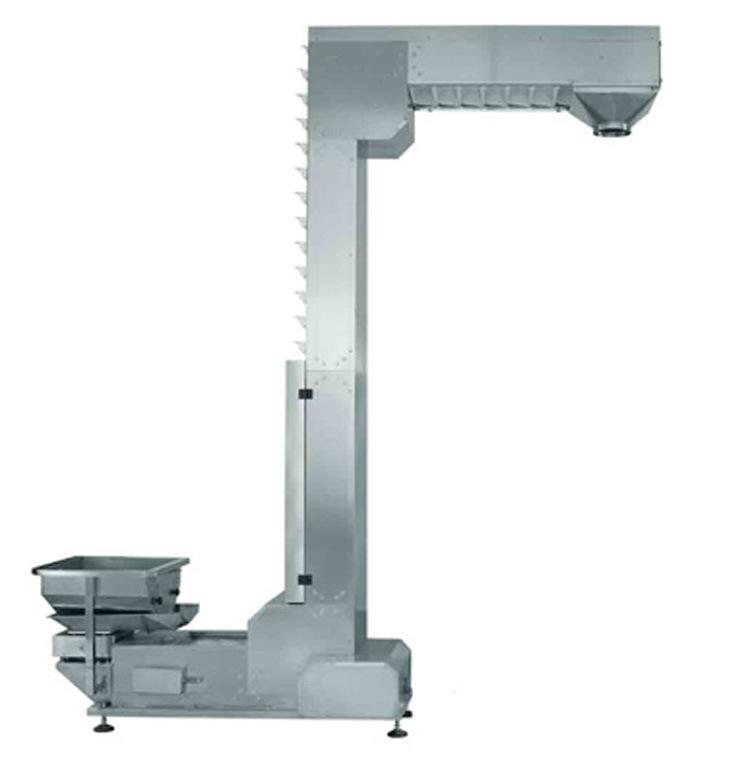 Z type conveyor with vibration