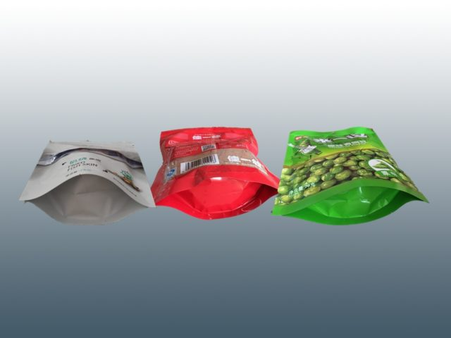 Samples made by vertical doypack packing machine for granules
