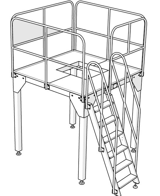 working platform for doypack filling packing machine