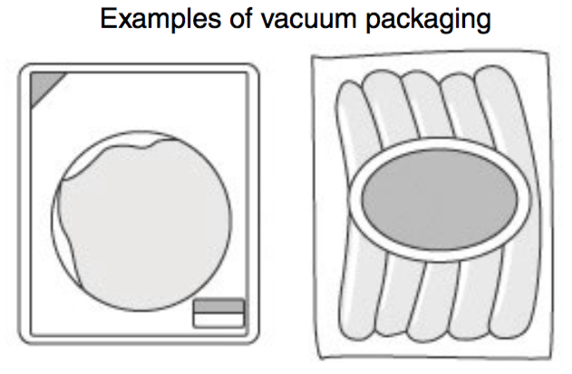 Eliminates oxygen in packages through evacuation or low-pressure sealing to prevent deterioration of products.