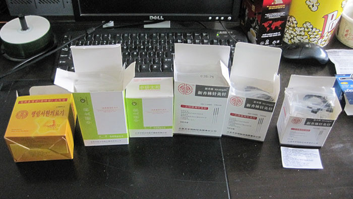 Samples packed by automatic cartoning machine