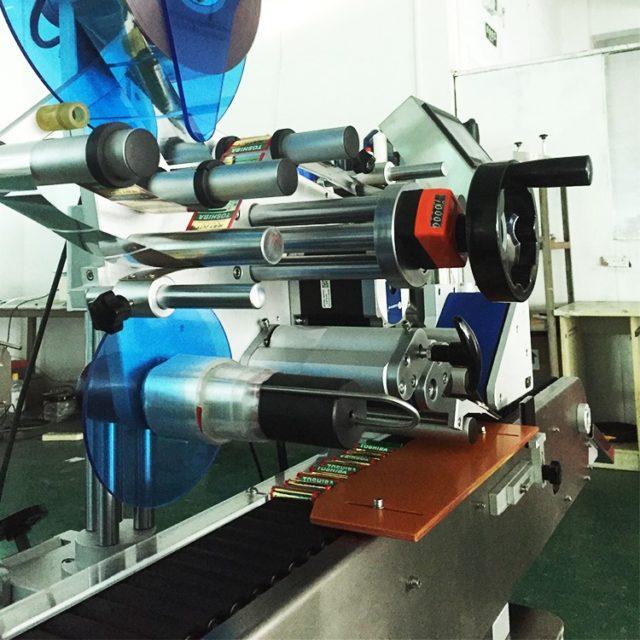 Detail of automatic horizontal labeling machine