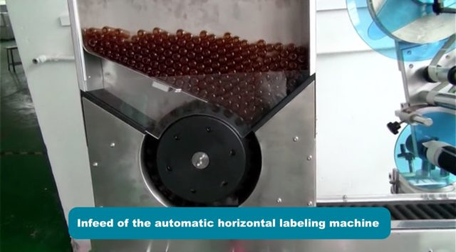 Infeed of the automatic horizontal labeling machine