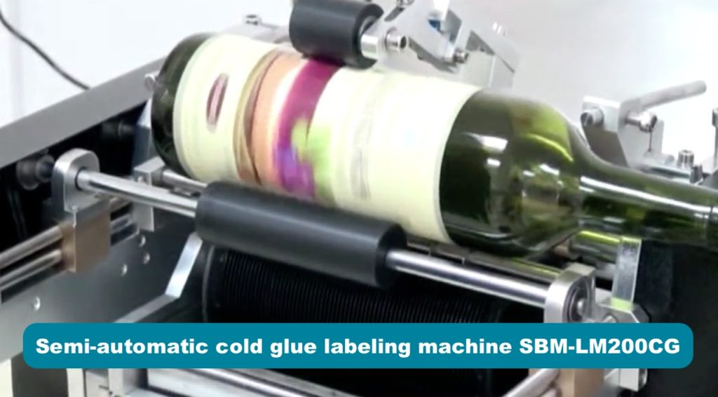 Labeling of the semi-automatic cold glue labeler