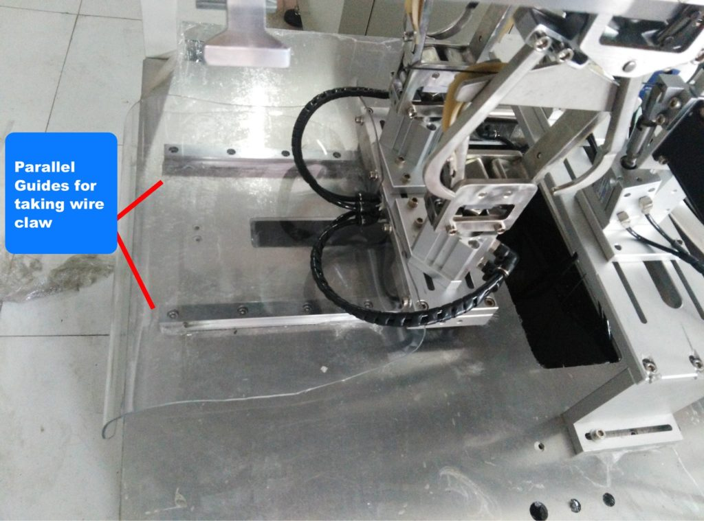 Parallel Guide for taking wire claw