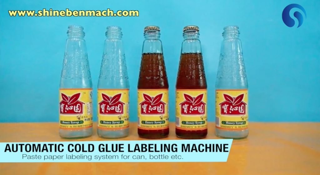 Samples made by automatic cold glue labeling machine