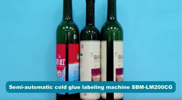 Samples made by semi-automatic cold glue labeling machine