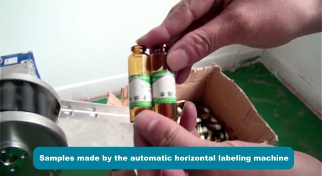 Samples made by the automatic horizontal labeling machine