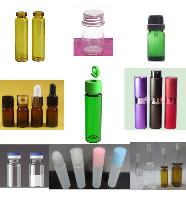 Small round bottles for automatic horizontal labeling machine
