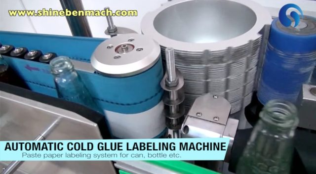 Labeling machine with cold glue
