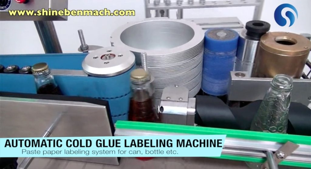 Overview of the automatic cold glue labeler