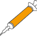 All-round labeling of syringes