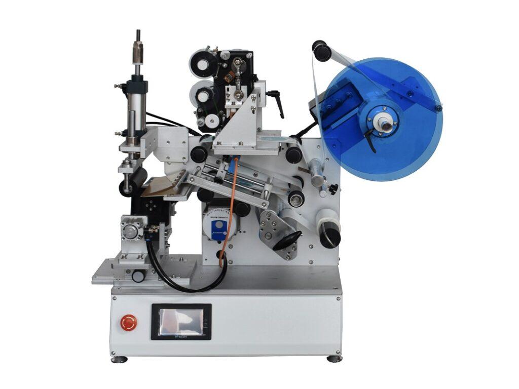 Semi-automatic rotary labeling machine with printer SBM-SALMR30