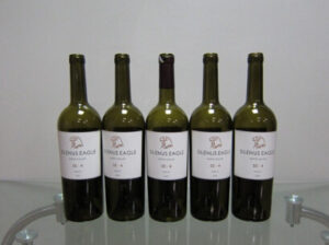Wrap around labeling for wine bottles