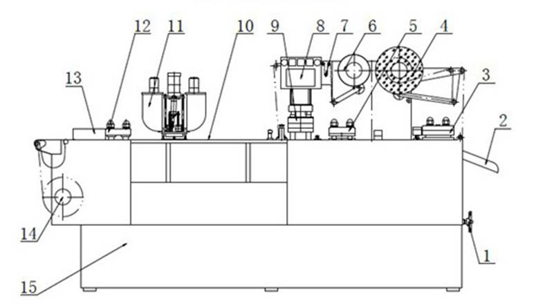 Outline drawing of form fill seal machine